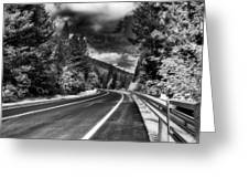 Mountain Highway Greeting Card by Mick Burkey