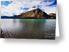 Mountain Lake Scenic Greeting Card by George Oze