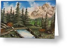 Mountain Meadow Crossing Greeting Card by Gavin Kutil