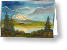 Mountain Overlook Greeting Card by Joyce Krenson