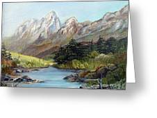 Mountain River Greeting Card by Dorothy Maier