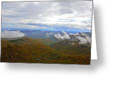 Mountain Seasons Greeting Card by Susan Leggett