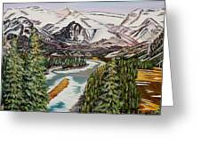 Mountain Spring - Banff Springs Greeting Card by Marilyn  McNish
