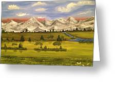 Mountain View Greeting Card by Scott Wilmot