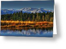 Mountain Vista Greeting Card by Randy Hall