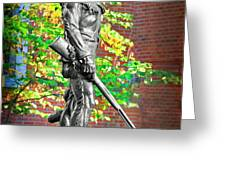 Mountaineer statue Greeting Card by Dan Friend