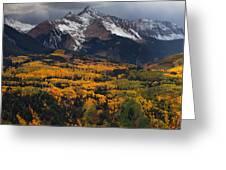 Mountainous Storm Greeting Card by Darren  White