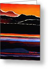 Mountains Abstract Greeting Card by Karon Melillo DeVega