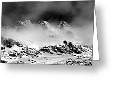 Mountains Of Morteratsch Greeting Card by Marc Huebner