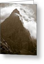 Mountainscape Greeting Card by Frank Tschakert