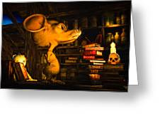 Mouse In The Attic Greeting Card by Bob Orsillo