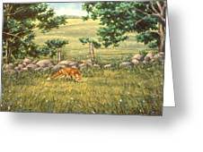 Mouse Patrol Greeting Card by Richard De Wolfe
