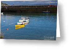 Mousehole Cornwall Greeting Card by Louise Heusinkveld