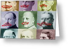 Moustaches Greeting Card by Tony Rubino
