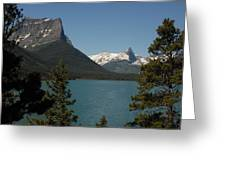 Moutains In Glacier National Park Greeting Card by Larry Moloney