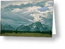 Moving Clouds-mount Moran Greeting Card by Paul Krapf