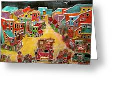 Moving Day July Greeting Card by Michael Litvack