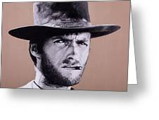 Mr. Eastwood Greeting Card by Ellen Patton