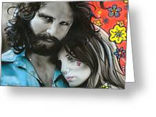 'mr Mojo Risin And Pam' Greeting Card by Christian Chapman Art
