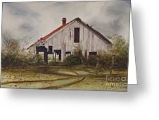 Mr. Munker's Old Barn Greeting Card by Charles Fennen