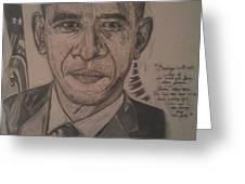 Mr. President Greeting Card by Demetrius Washington