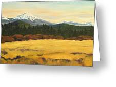 Mt. Bachelor Greeting Card by Donna Drake