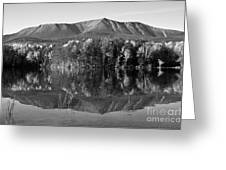 Mt Katahdin Black And White Greeting Card by Glenn Gordon