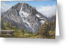 Mt Moran - Tetons Greeting Card by Mar Evers