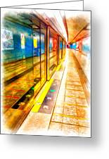 Mtr Admiralty Station In Hong Kong Greeting Card by Yury Malkov
