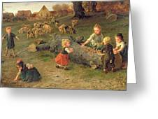 Mud Pies Greeting Card by Ludwig Knaus