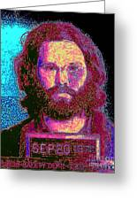 Mugshot Jim Morrison 20130329 Greeting Card by Wingsdomain Art and Photography
