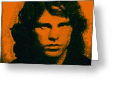 Mugshot Jim Morrison Square Greeting Card by Wingsdomain Art and Photography