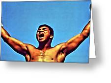 Muhammad Ali Greeting Card by Florian Rodarte