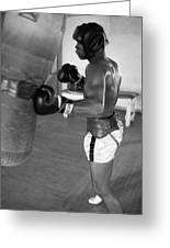 Ali Punching Bag Greeting Card by Retro Images Archive