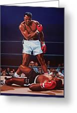 Muhammad Ali Versus Sonny Liston Greeting Card by Paul Meijering