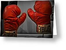 Muhammad Ali's Boxing Gloves Greeting Card by Bill Cannon