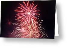 4th Of July Fireworks 1 Greeting Card by Howard Tenke