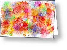 Multi Colored Ditgital Abstract 4 Greeting Card by Debbie Portwood