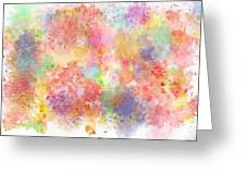 Multi Colored Ditgital Abstract 5 Greeting Card by Debbie Portwood
