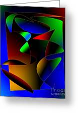 Multicolor Abstract Art Greeting Card by Mario  Perez