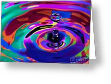 Multicolor Water Droplets 1 Greeting Card by Imani  Morales
