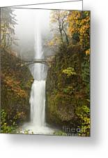 Multnomah Autumn Mist Greeting Card by Mike  Dawson