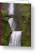 Multnomah Falls Oregon Greeting Card by Gary Grayson