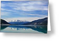 Muncho Lake Bc Canada Greeting Card by Leslie Kirk