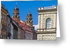 Munich Greeting Card by Juergen Klust