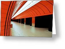 Munich Subway I Greeting Card by Hannes Cmarits