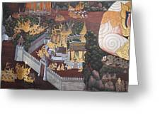 Mural - Grand Palace In Bangkok Thailand - 01139 Greeting Card by DC Photographer