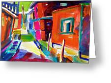 Murano Back Street Italy Greeting Card by Therese Fowler-Bailey