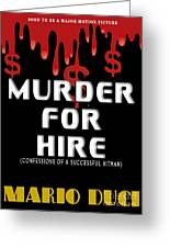Murder For Hire Book Cover Greeting Card by Mike Nellums