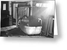 Murder In The Bath Greeting Card by Anton Egorov